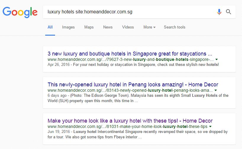 4 Cool Google Search Hacks You Must Know Home Decor Singapore