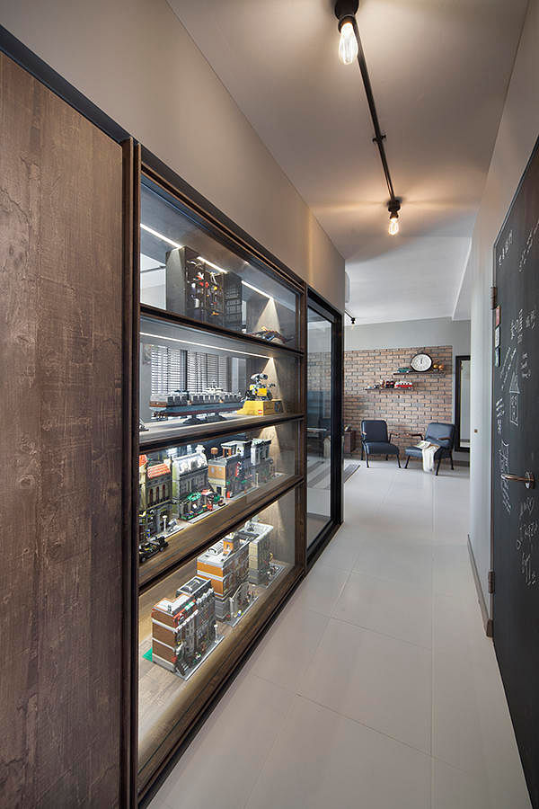 industrial home designs. Personalising The Space Is A Great Way To Soften Up Look Of An  Industrial Theme Home The Display Wall Created Along This Corridor Helps Show Off 5 Surprising Designs Home Decor Singapore