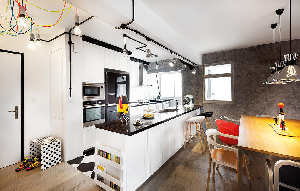 Design: D5 Studio Image. These Kitchens Of HDB Flat Homes Have Stylish And  ...