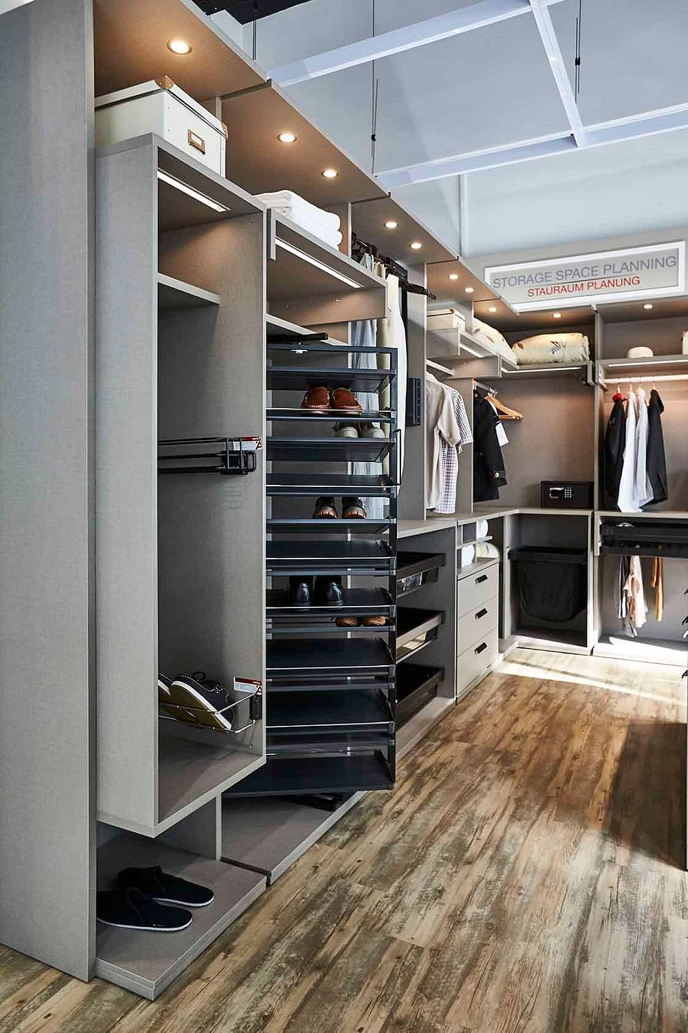 For Both Walk In And Closed Wardrobes, From Rotatable Swivel Shoe Racks And  Pull Out Mirrors To Integrated Ironing Boards And Rail Spot Lighting, ...
