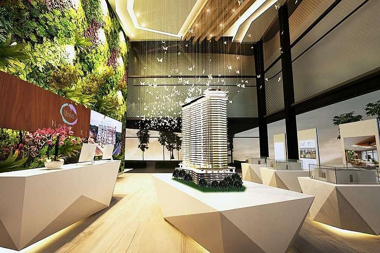 Design For The Unio Sales Gallery In Kuala Lumpur By Sky Creation Above And Fabricwood PHOTO PAN YI CHENG