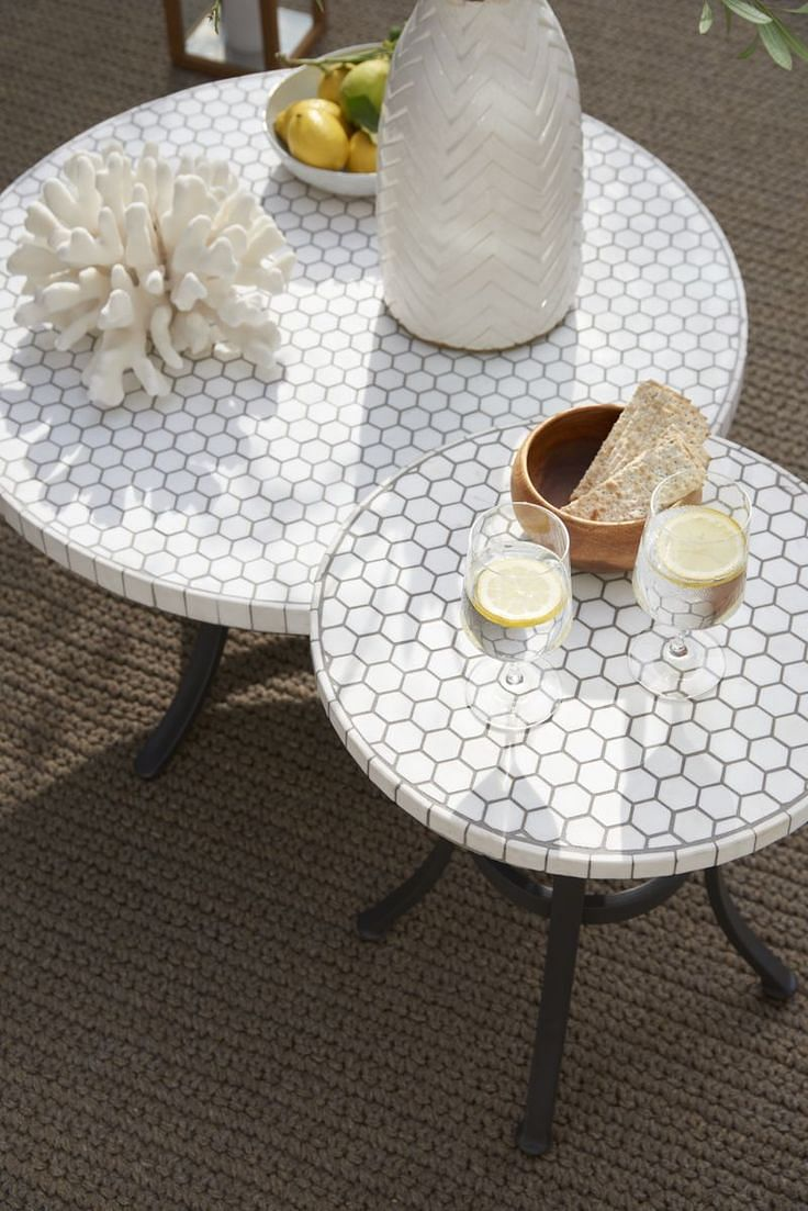 Shopping A Pure Marble Coffee Table Perfect For The Balcony Home - Hexagon marble coffee table