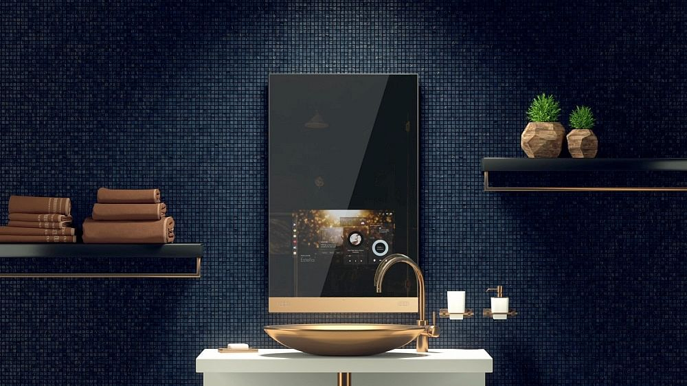 Shopping The Worlds First Luxury Smart Mirror By FRED Technologies - Fred's floor tile