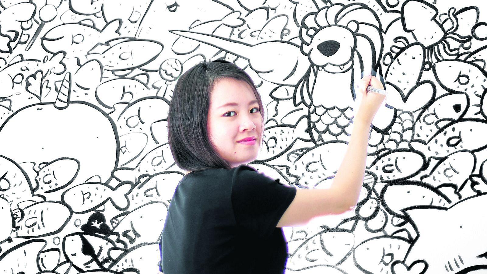 Stephanie Raphaela Ho Of Muffinsaurs Singapore Mural Artist Part 3