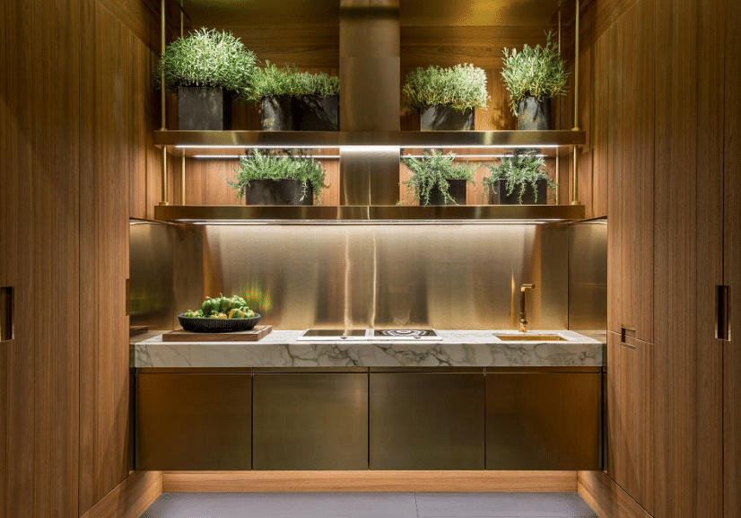 A Luxurious Stainless Steel Kitchen Principia By Arclinea