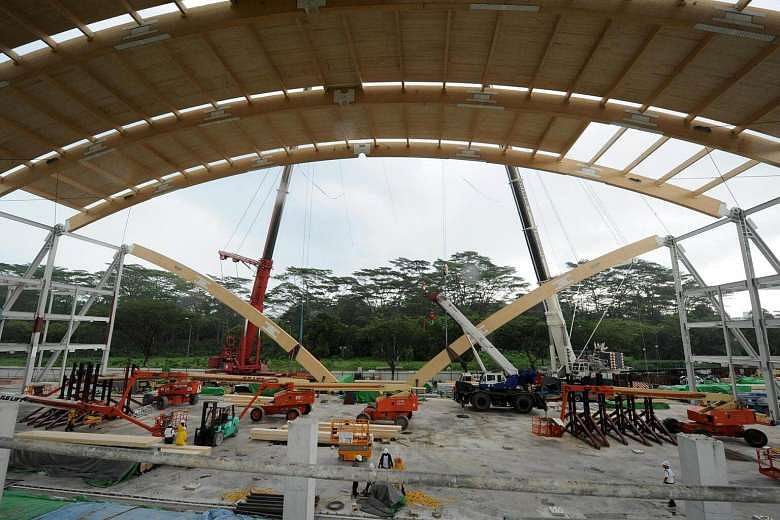 Mass Engineered Timber Used For Wave Structure Of Ntu S
