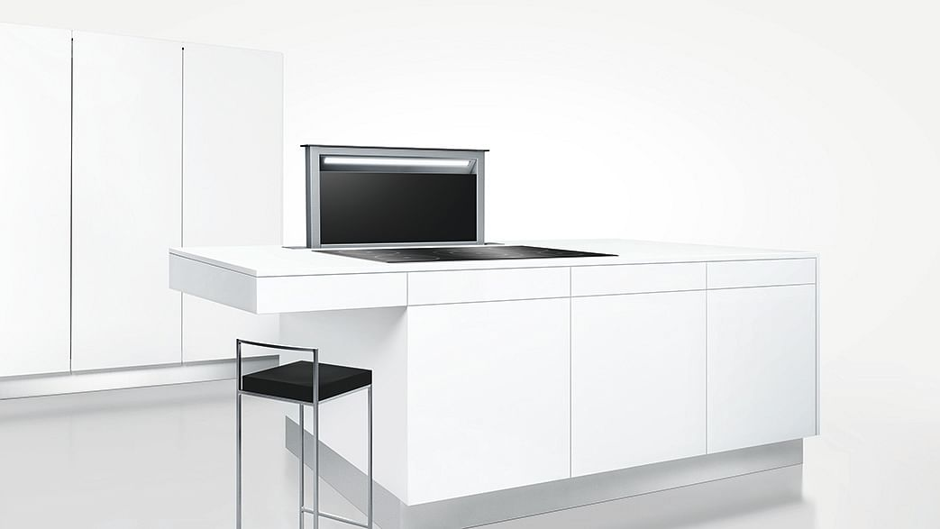 If You Re Looking For E Saving Solutions Your Kitchen Bosch S Downdraft Stainless Steel Hood Is A Great Option