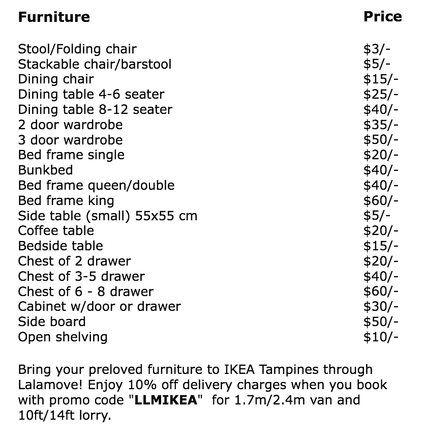Donu0027t Forget To Key In The Promo Code When You Hire Delivery Transport  Service Lalamove To Bring The Furniture From Your Home To Ikea Tampines!