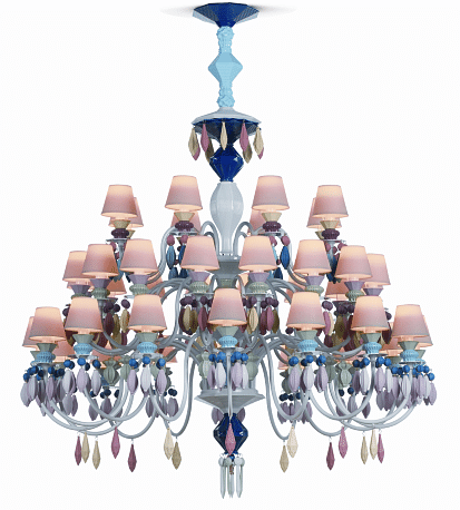 Object of desire belle de nuit chandelier by lladro home decor the belle de nuit chandelier charms with its sensual elegance this chandelier made entirely of porcelain was inspired by the extraordinary flower mozeypictures Gallery
