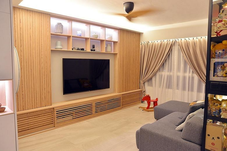 Home Tour Four Room Hdb Bto Flat In Whampoa With Textured Finishes
