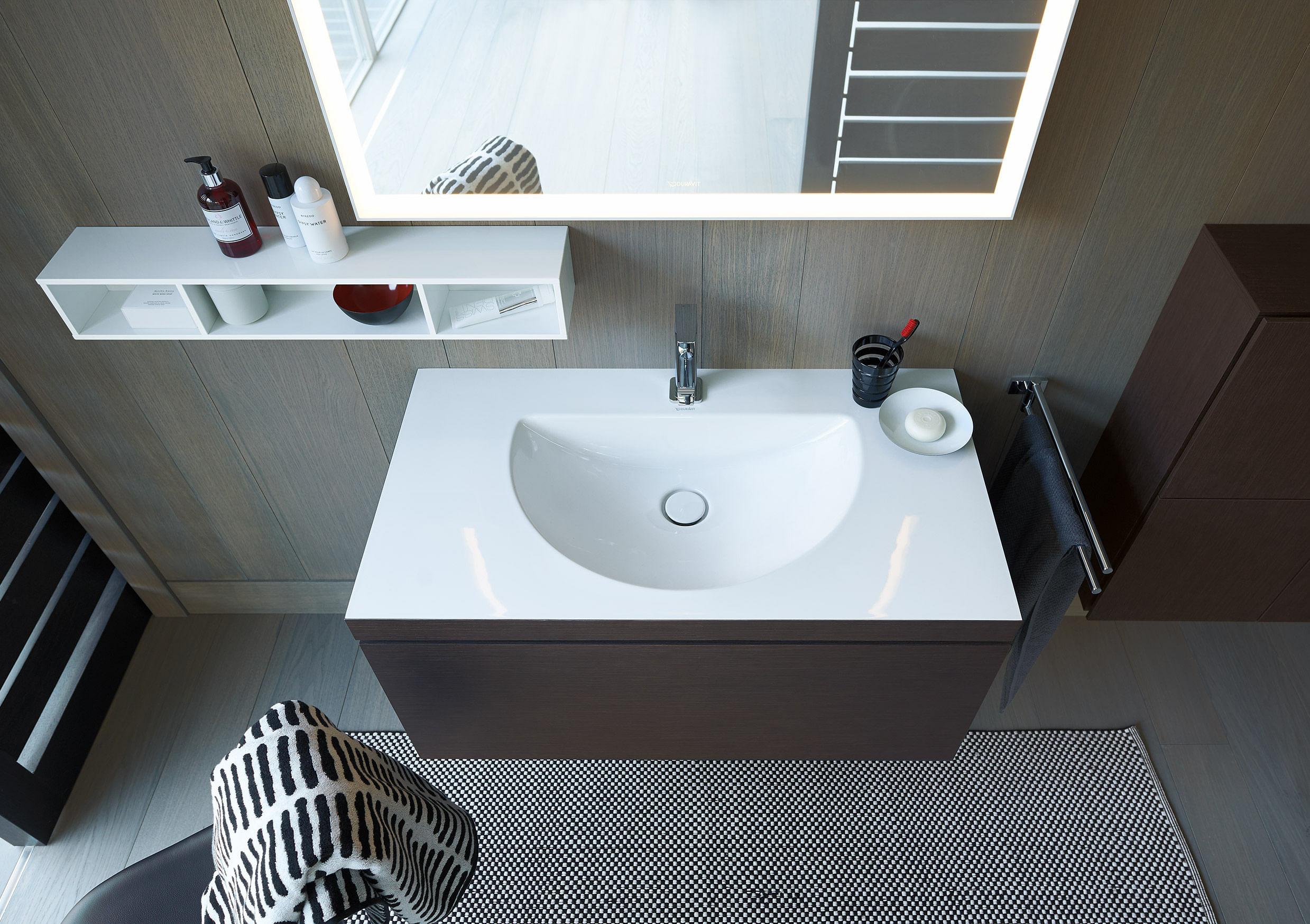 Bathroom design: Easy-to-clean basin with streamlined ...
