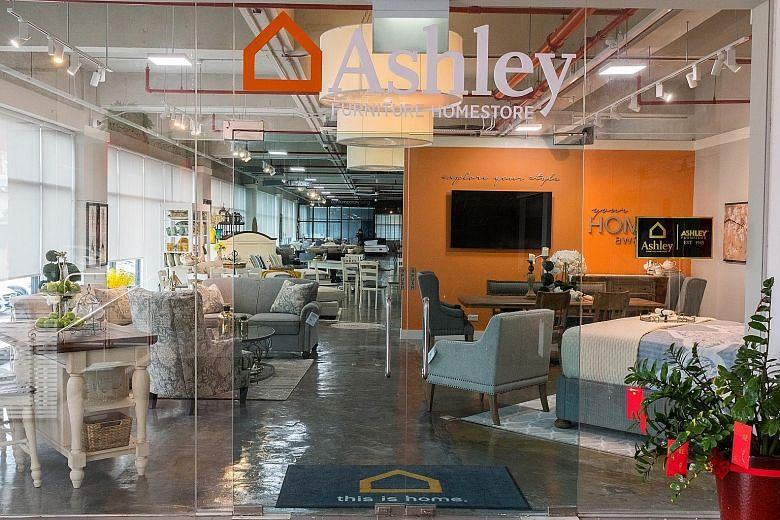 Popular American Furniture Store Ashley Furniture Homestore Opens In Singapore Home Amp Decor