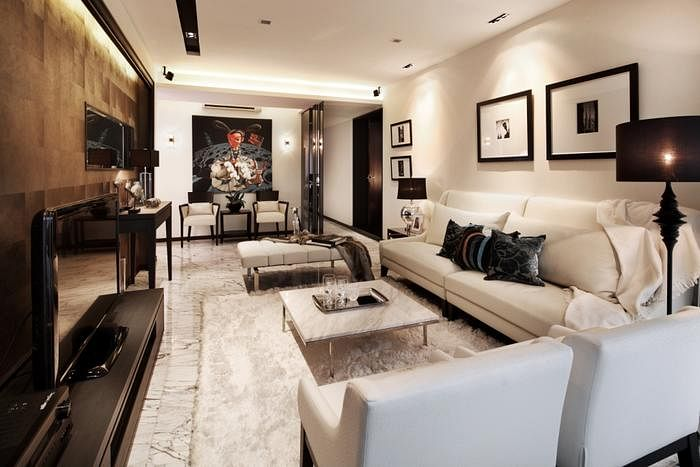 This Black And White Condo Flat In Tanjong Rhu, By Haire Living