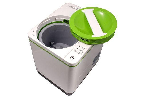A gadget to turn home food waste into compost and other for Eco friendly home products