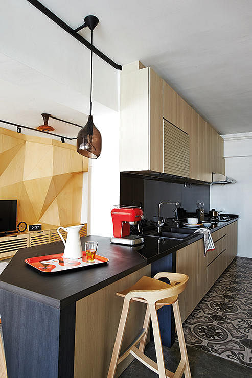 Virtual Kitchen Design Hdb Singapore: House Tour: $100,000 For This HDB Flat's Renovation