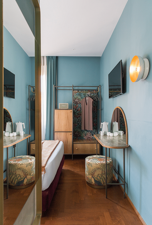 Eclectic Bedroom And Bathroom Designs In Boutique Hotel