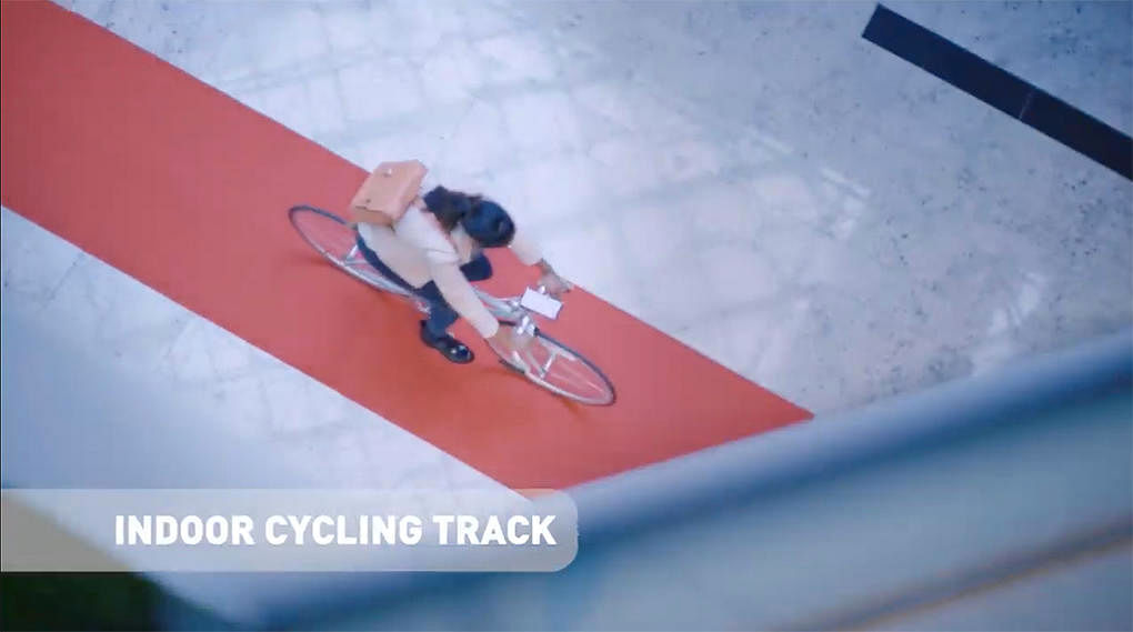 05 new funan mall indoor cycling track