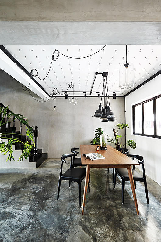 7 HDB flat homes with concrete screed flooring and wood tones 4
