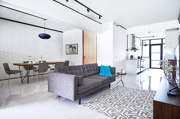 white floor tiles living room. Interesting Floor 5 Stylish HDB Flat Living Rooms With White Walls And Floors 4 On White Floor Tiles Living Room