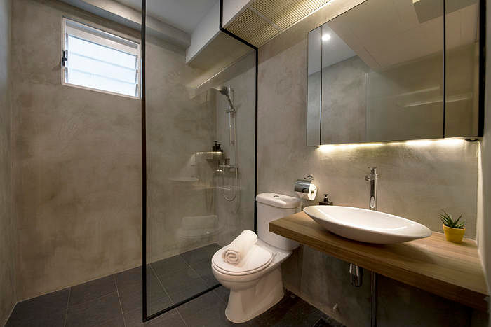modern toilet design. 7 Simple But Modern HDB Flat Bathroom Designs 6  Home Decor Singapore