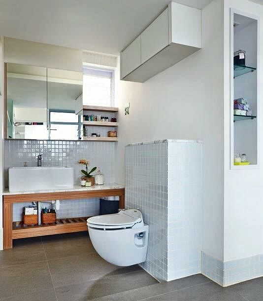 7 simple but modern hdb flat bathroom designs home decor singapore Simple contemporary bathroom design