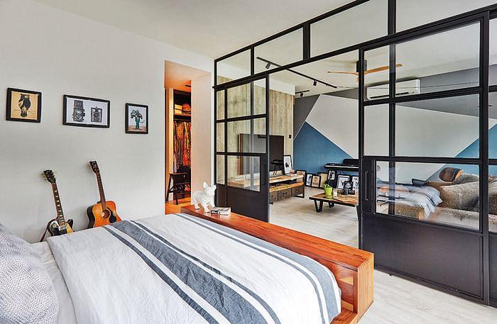 bedroom design ideas open concept bedrooms with glass panel doors 2 - Open Bedroom Design