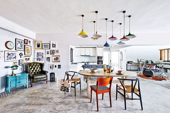 10 design ideas for decorating with workshop lamps at home 5