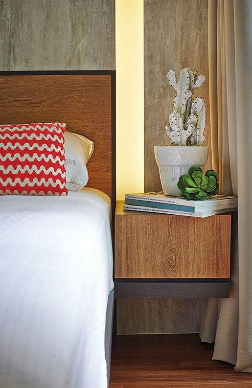 bedroom design ideas: 10 modern built-in bed frame and nightstand Nightstand Design Ideas