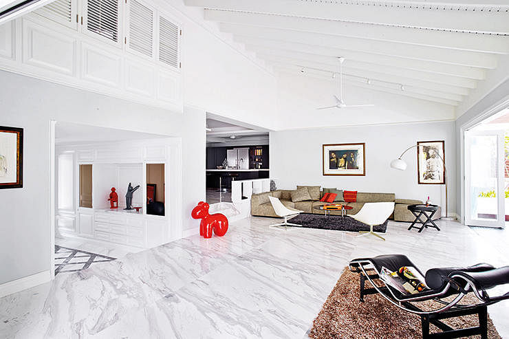 8 Stylish Homes With Marble Floors Home Amp Decor Singapore