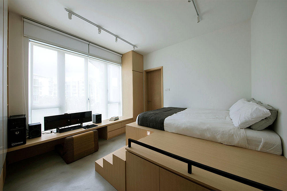 8 sneaky places for storage at home home decor singapore for Bedroom study area designs