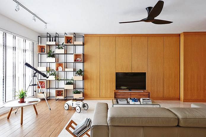 Living room design ideas 7 contemporary storage feature for Living room interior design singapore