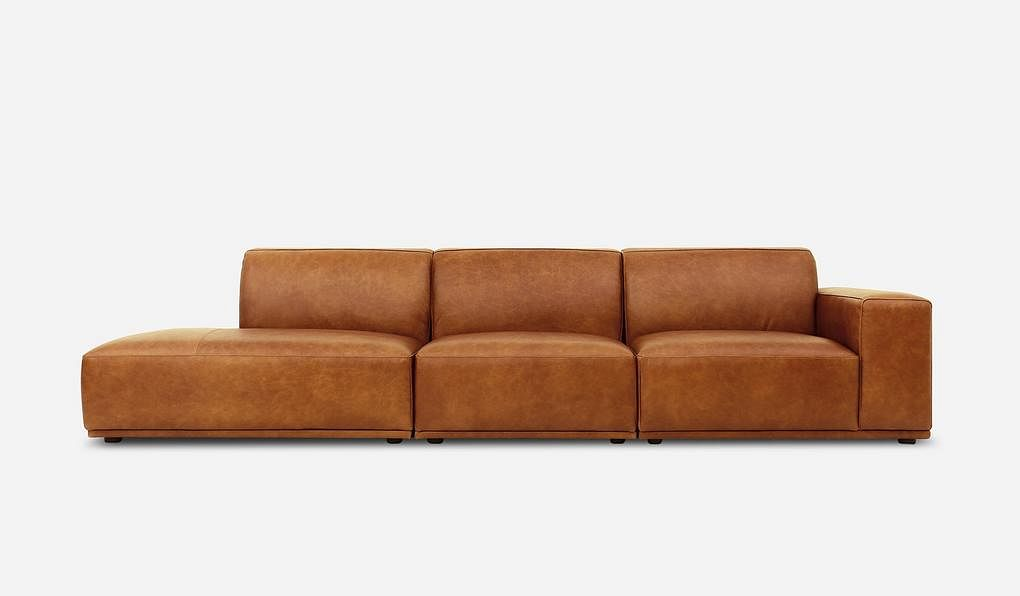 Todd Chaise Leather Sofa By Castlery