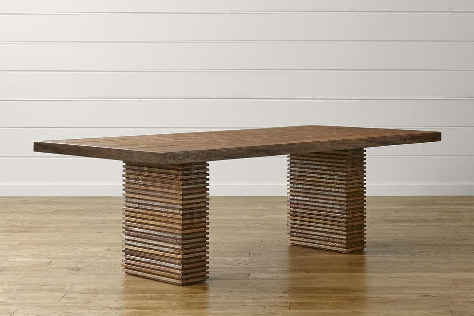 6 crate and barrel paloma reclaimed wood dining table