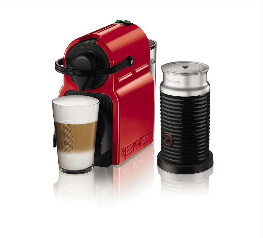 Nespresso inissia with aeroccino bundle