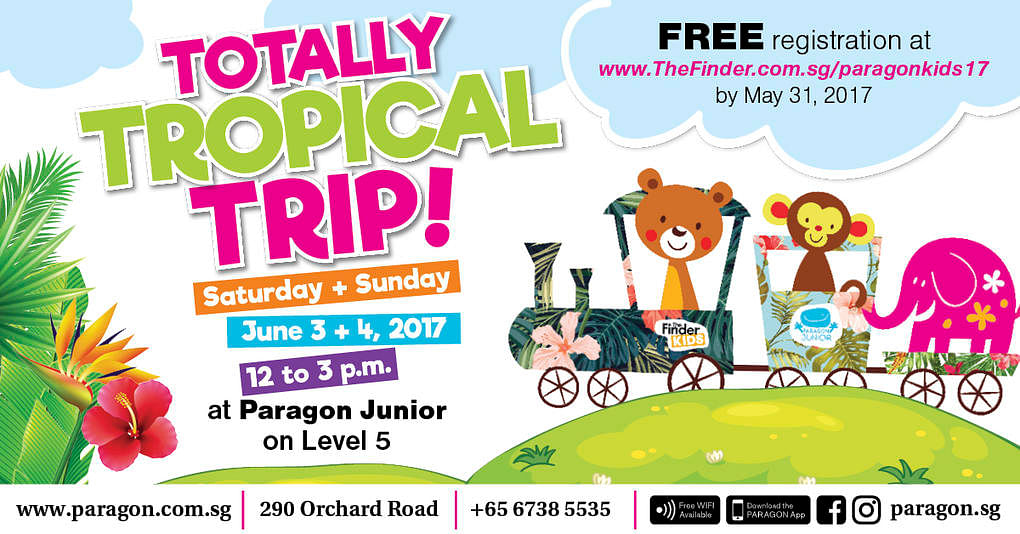 Totally tropical trip at paragon junior