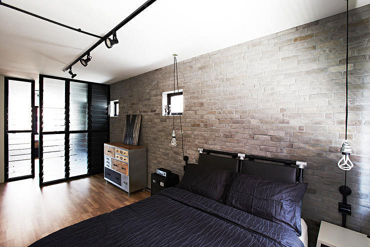 4 industrial style hdb homes that have character and style for Wallpaper home singapore