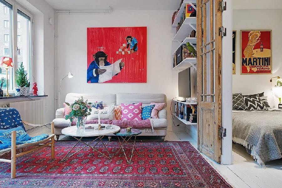 House tour d cor ideas for styling a small one bedder for Sala de estar hippie