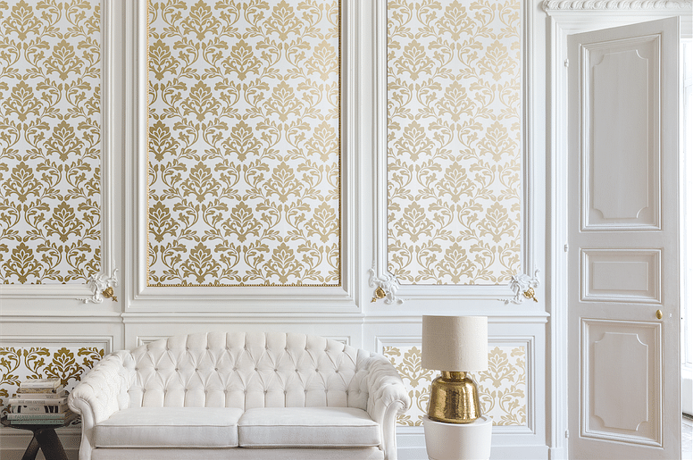Feature Wall Design: Ornate Wallpaper Options