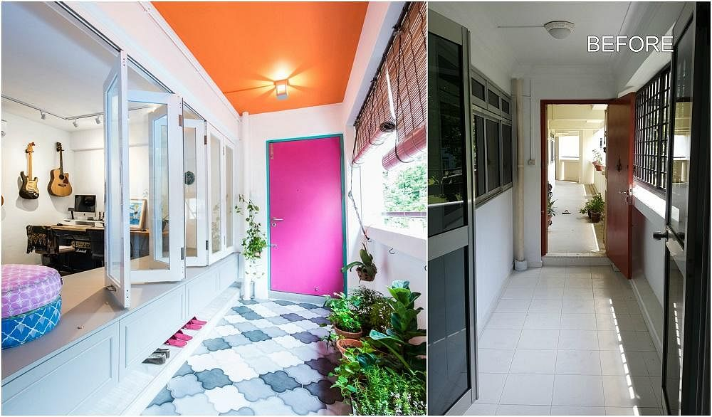 Foyer Design Hdb : House tour before and after reno of a bohemian style