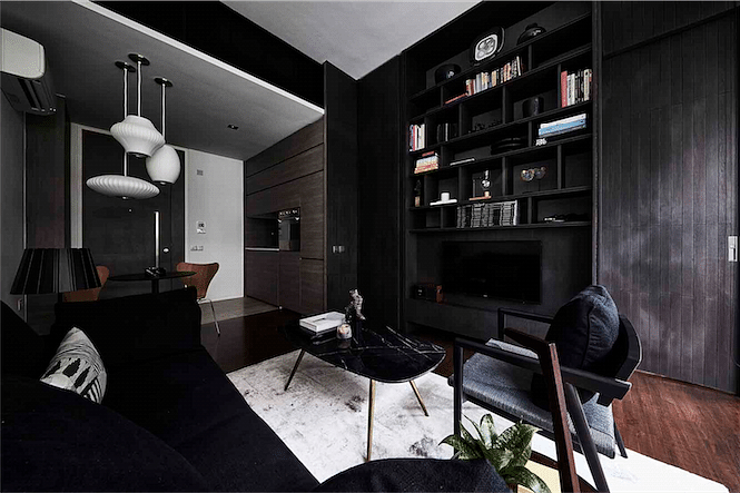 House Tour: Dark colour palette in this stylish one-bedroom ...