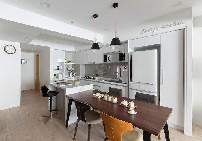 House tour how to make the most of your apartment living - Open kitchen designs with living room ...