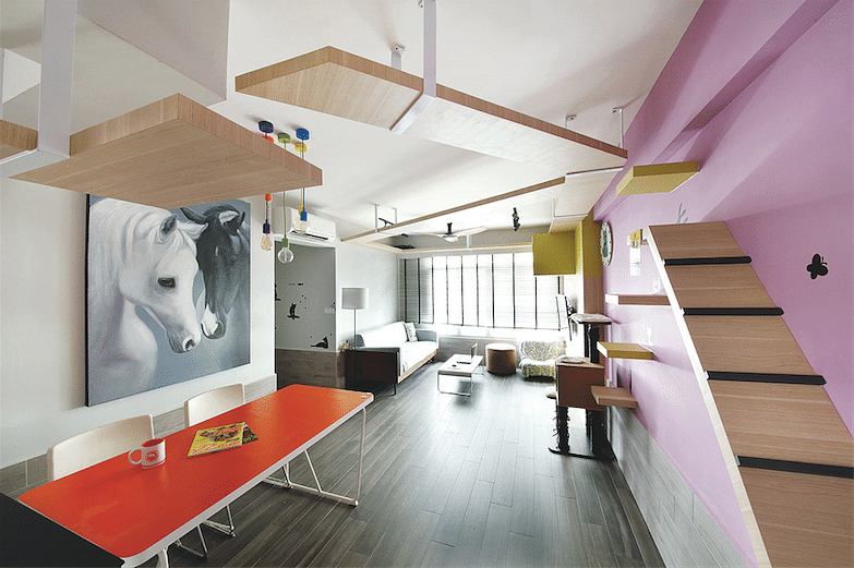 4 hdb apartments with colourful and eye catching interiors for 4 room bto interior design