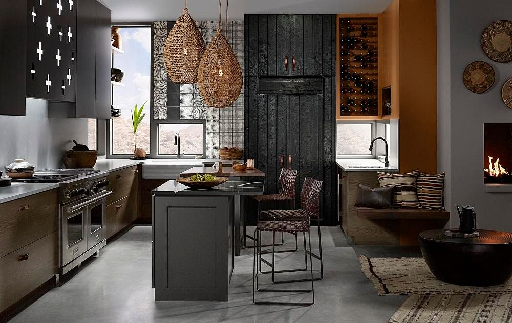 3 Spacious Kitchens From Wood And White To Tribal Style
