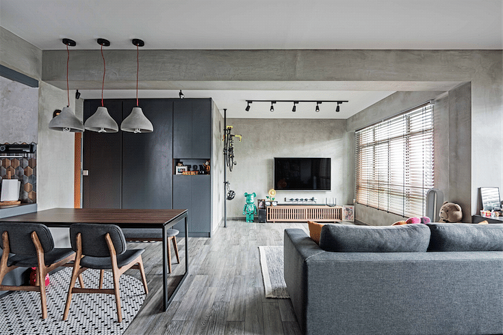 House Tour Grey And Wood Accents Fill This Spacious Four Room HDB