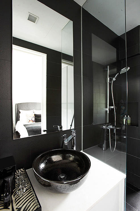 mostly black bathrooms Design intervention