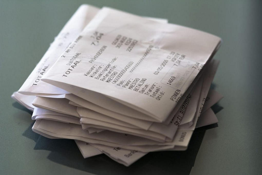 12 old receipts