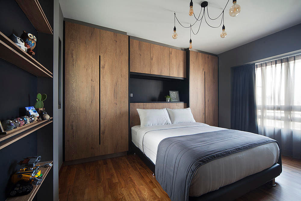 bedroom headboard and feature wall Design: