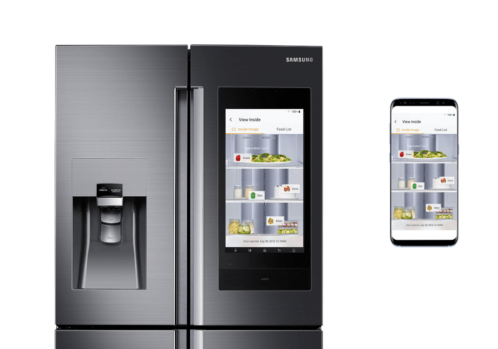 Samsung family hub food list