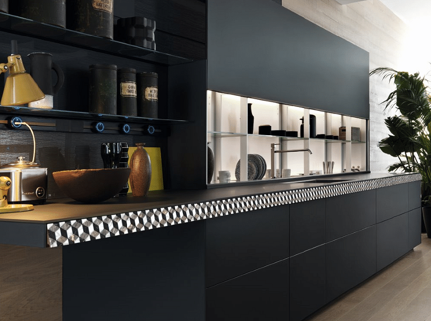 Luxurious kitchen backsplash valcucine