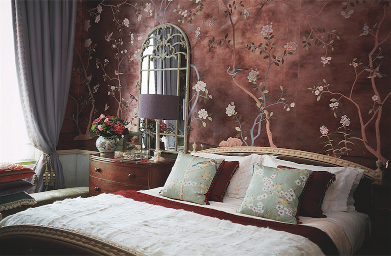 BC8 Tieback curtains de gournay